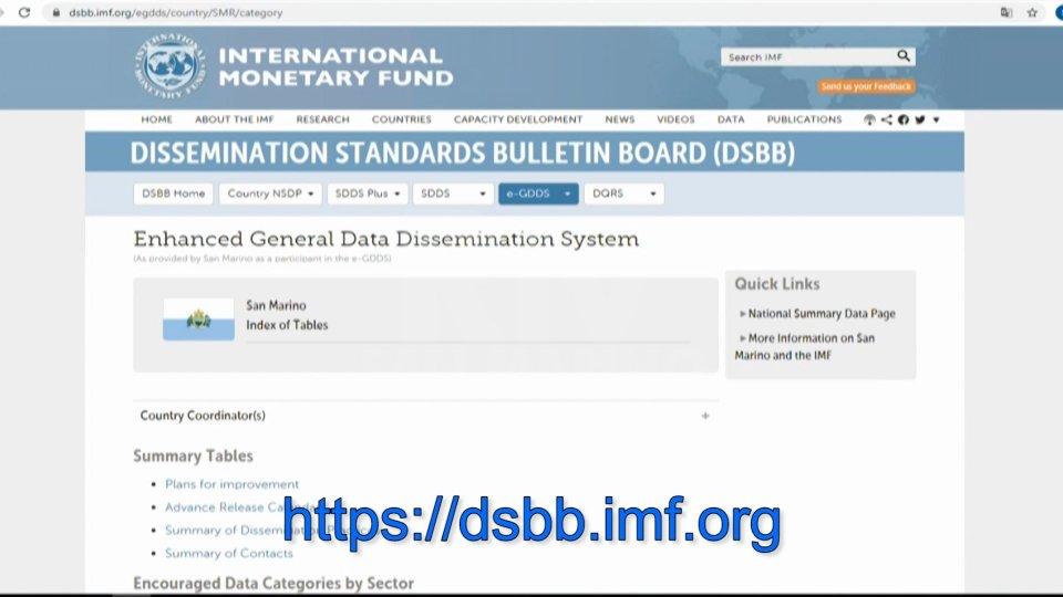 FMI: San Marino attua il sistema rafforzato di divulgazione dei dati (e-GDDS)