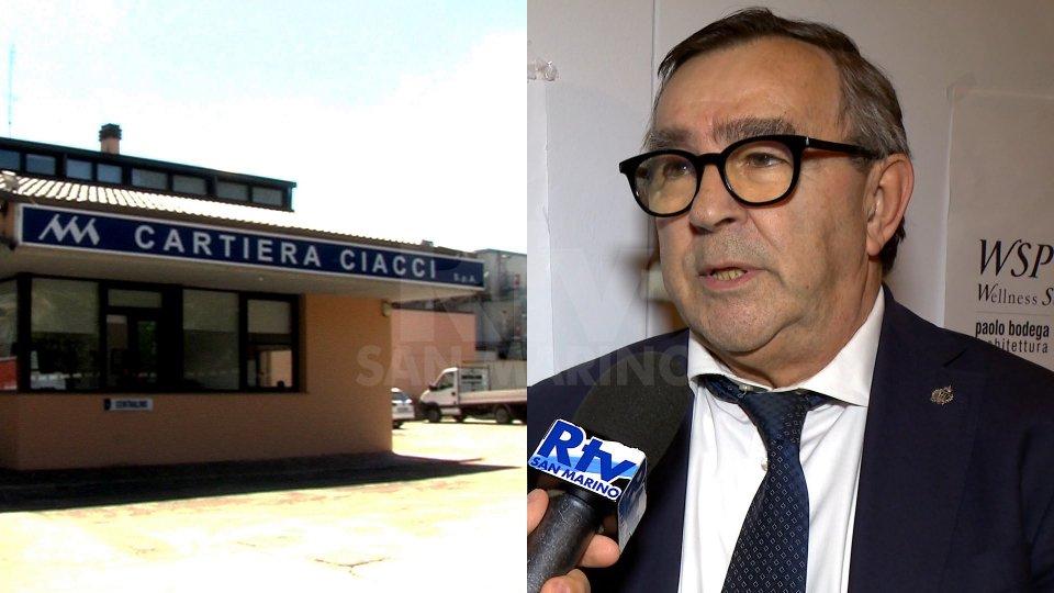 Cartiera Ciaccia e l'ex segretario Augusto Michelotti (foto archivio)