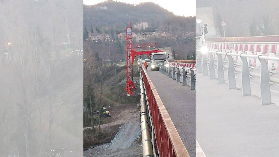 Ponte Verucchio: due giorni di chiusura totale per sollevare la campata