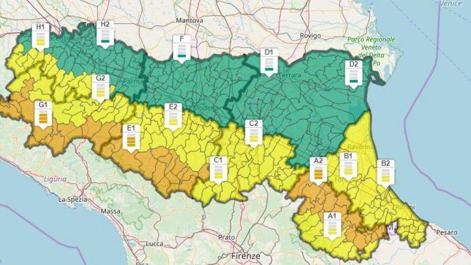 Allerta meteo: venti di burrasca sulle colline romagnole, chiuso il parcheggio dei Tavolucci