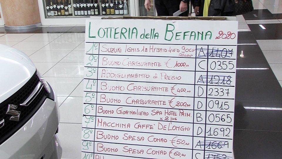 Lotteria della Befana: ancora numerosi premi di valore da ritirare