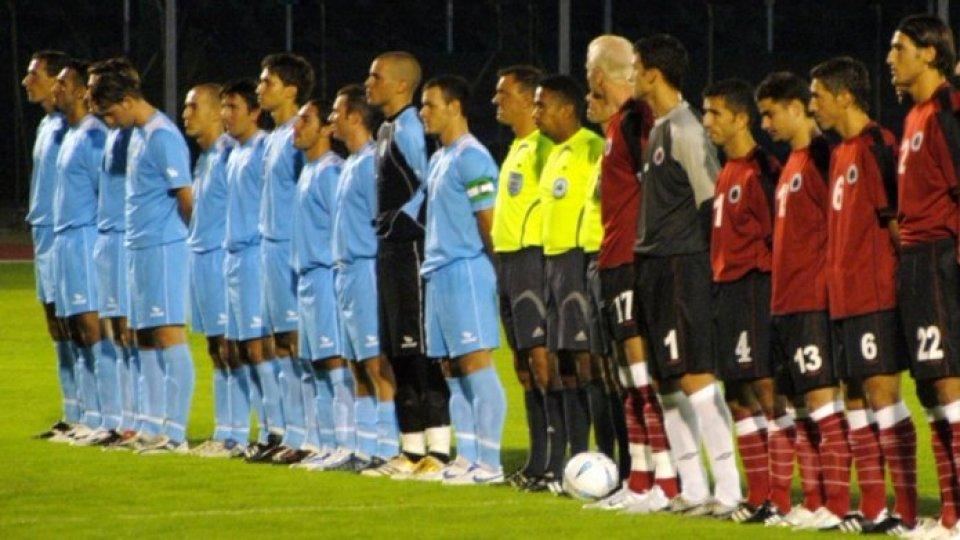 La nazionale sammarinese contro l'Albania nel 2006 (Foto @FSGC)