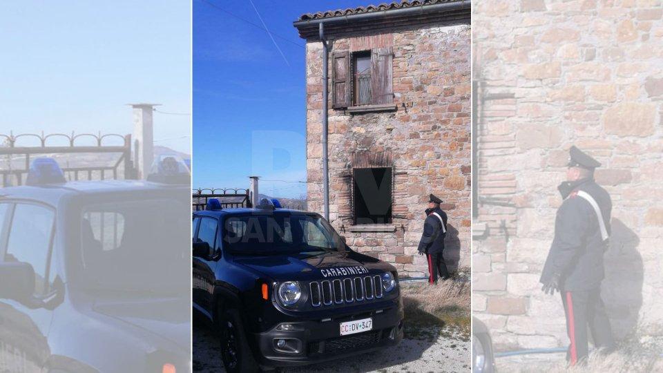 Incendiò casa a Maiolo dopo lo sfratto: i Carabinieri denunciano 41enne del posto
