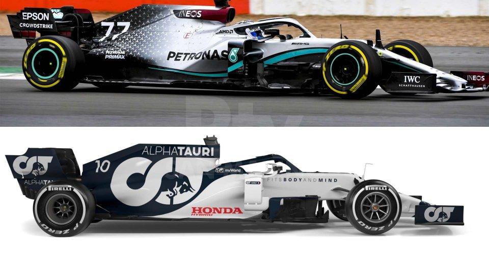 F1: presentate le nuove Mercedes e AlphaTauri