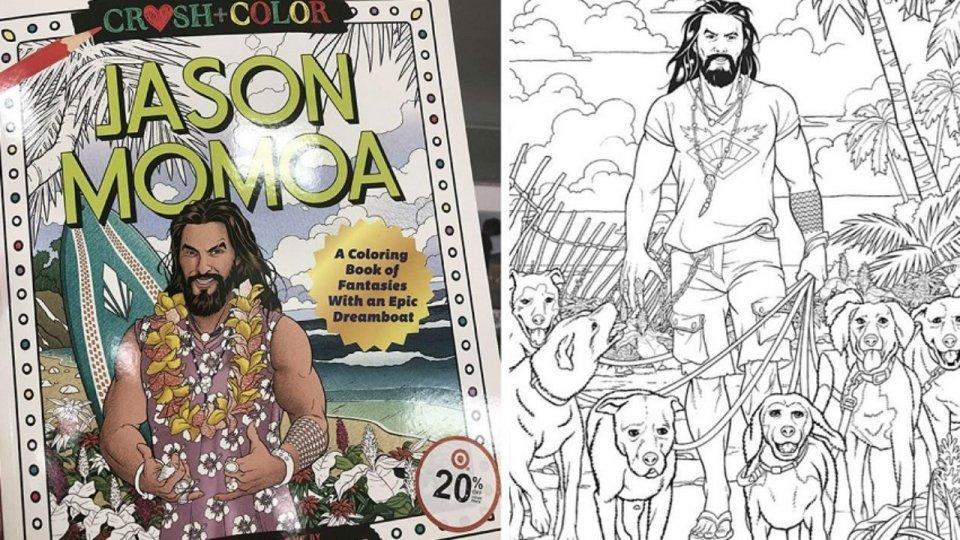 """Jason """"Momamma!"""" Momoa ha un suo album da colorare"""