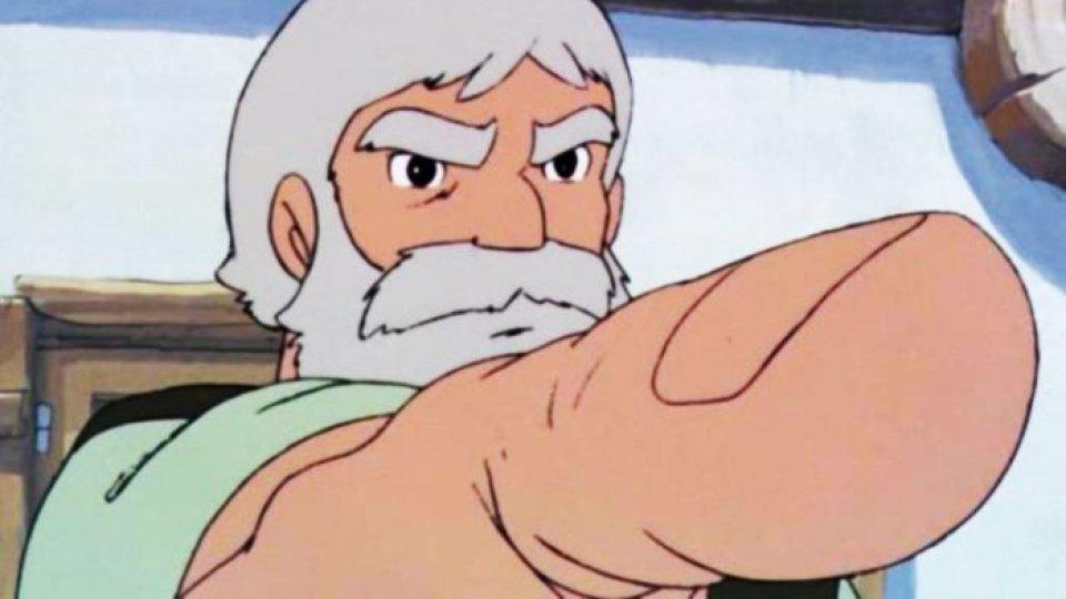 Il nonno di Heidi nella serie animata