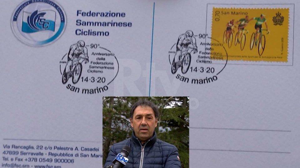 L'annullo dedicato ai 90 anni della Federazione Ciclismo