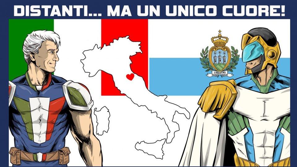 Coronavirus: l'abbraccio a fumetti fra San Marino e Italia
