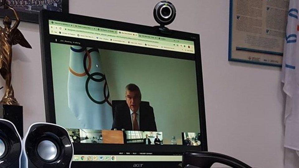 presidente Cio in video conferenza