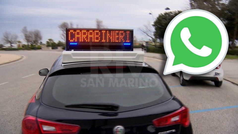 Rimini: denunciata 31enne per aver creato gruppo WhatsApp su controlli polizia