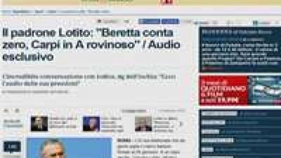 """Lotito al telefono: """"No a Carpi e Frosinone in serie A""""Lotito al telefono: """"No a Carpi e Frosinone in serie A"""""""