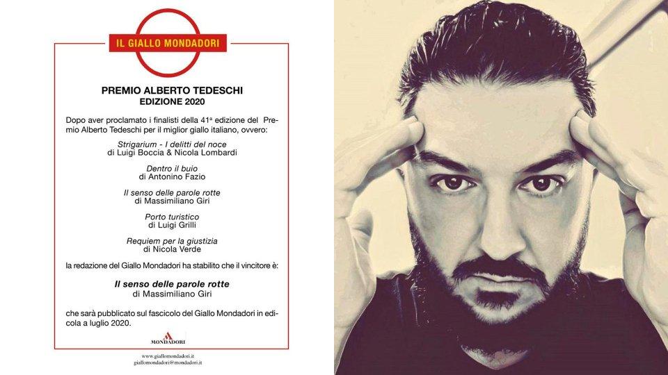 Massimiliano Giri vince il premio Mondadori per il miglior giallo italiano