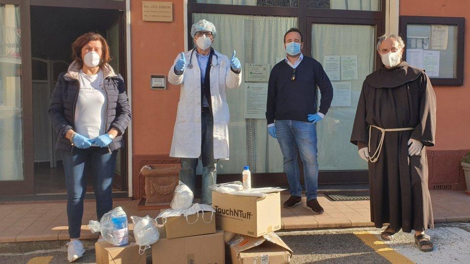 Carpegna dona mascherine FFP2 e chirurgiche per un valore di 2.500 euro