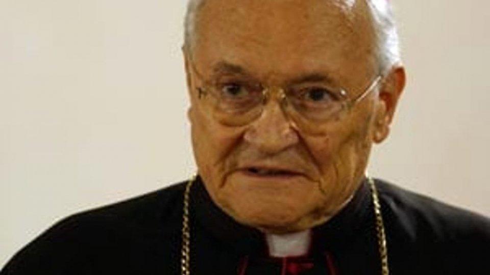 Cordoglio del presidente della Provincia Riziero Santi per la scomparsa del Vescovo emerito monsignor Mariano De Nicolò