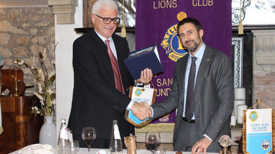 Il Presidente Marco Giancarlo Rossini con il Direttore dell'Autority Sanitaria Sammarinese Dott. Gabriele Rinaldi, in occasione di un meeting di novembre scorso