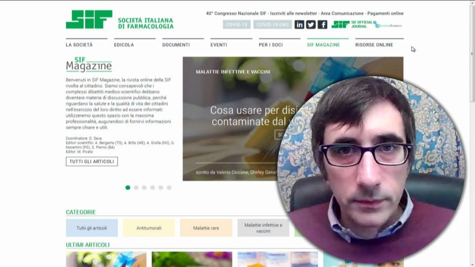 Nel video, in collegamento Skype, il promotore Marco Pivato, Società Italiana Farmacologia