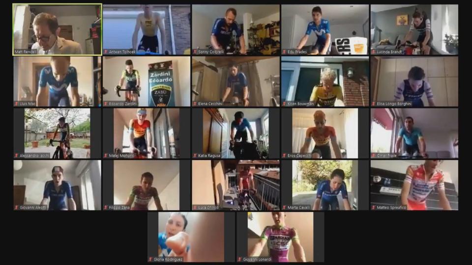 I partecipanti al Giro d'Italia Virtuale