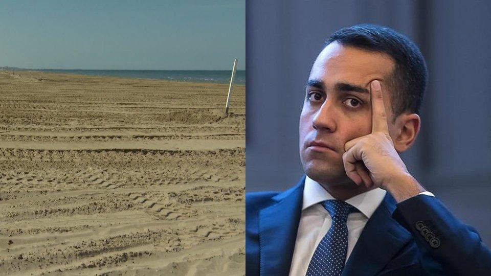 Spiaggia di Riccione e Luigi Di Maio