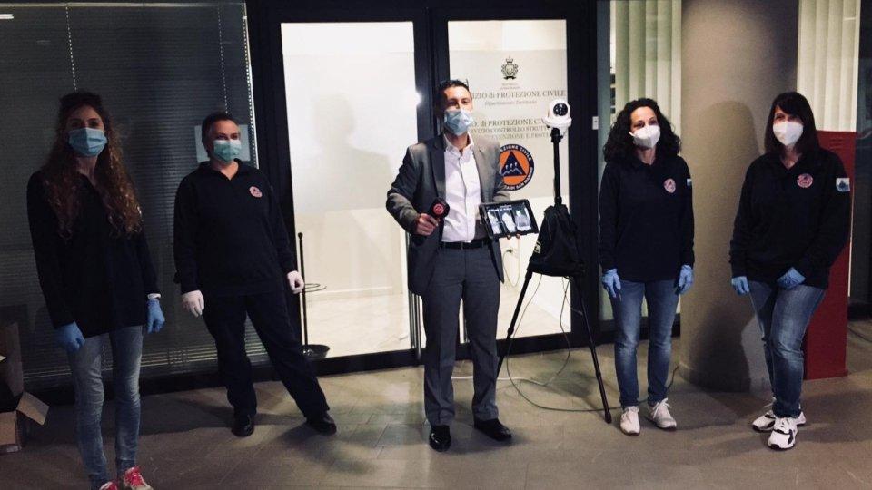 San Marino Sicurezza dona 2 telecamere per la misurazione istantanea della temperatura alla Protezione Civile
