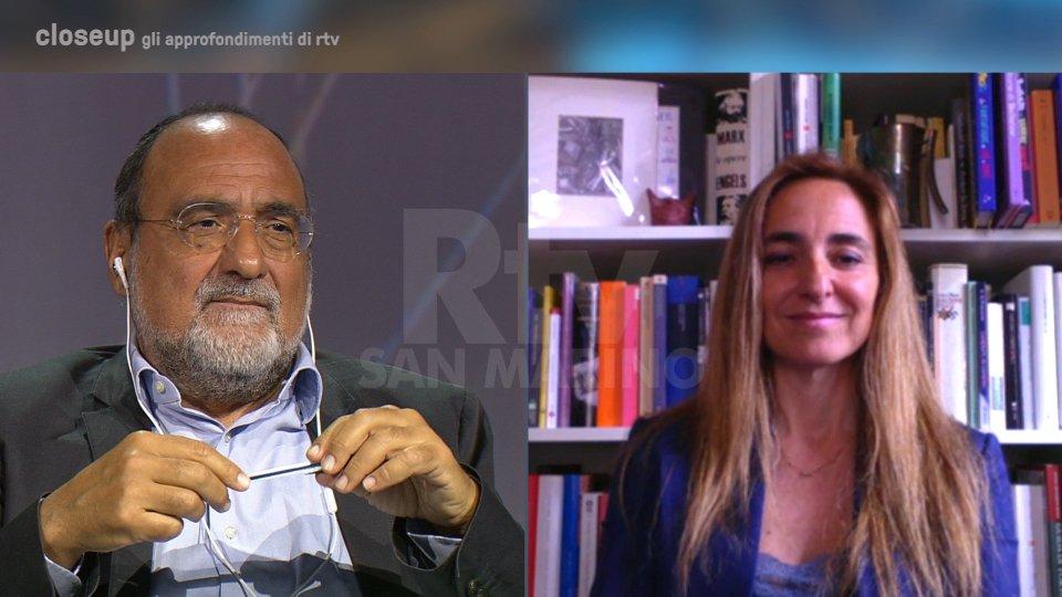 Il Dg Carlo Romeo e Eugenia Romanelli