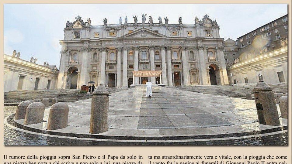 """Montefeltro: """"Quelle immagini del Papa solo, che Rtv ha scelto di non commentare"""" di Carlo Romeo"""