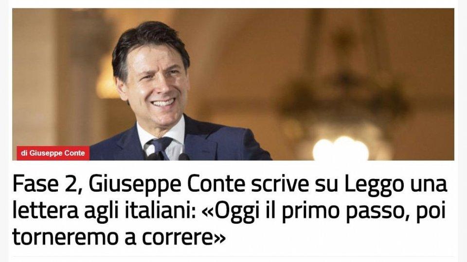 """Lettera a leggo.it, Conte: """"L'Italia tornerà a correre"""""""