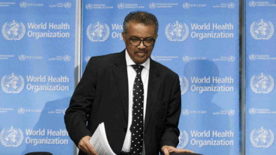 Il direttore generale Oms, Tedros Adhanom Ghebreyesus