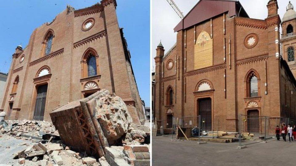 Prima e dopo la ricostruzione (Ansa)
