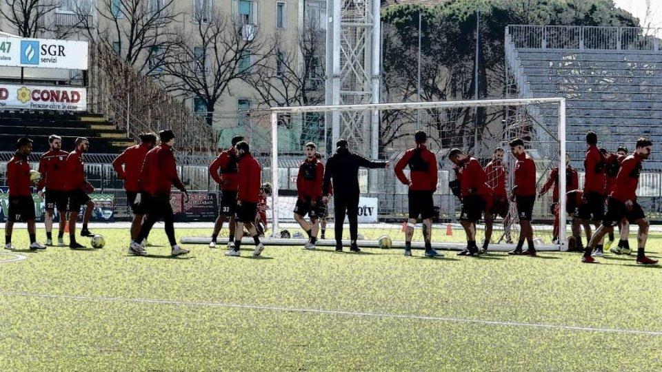 Allenamenti Rimini (foto @riminifootballclub)