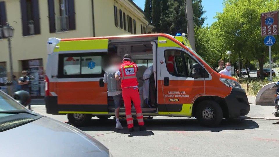 uno dei feriti soccorso dal 118