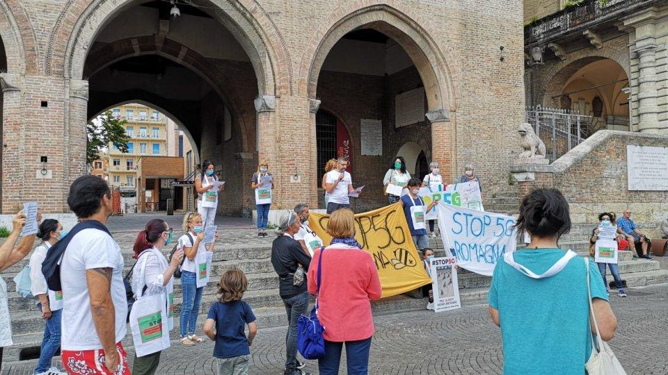 Manifestazione del comitato Stop 5G Romagna