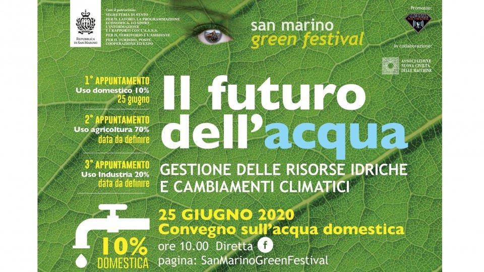 Fresca, chiara, preziosa: difendiamo l'acqua con una buona gestione. Evento in diretta facebook del San Marino Green Festival