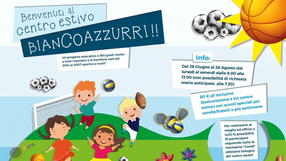 Centro estivo Biancoazzurri: informazioni utili