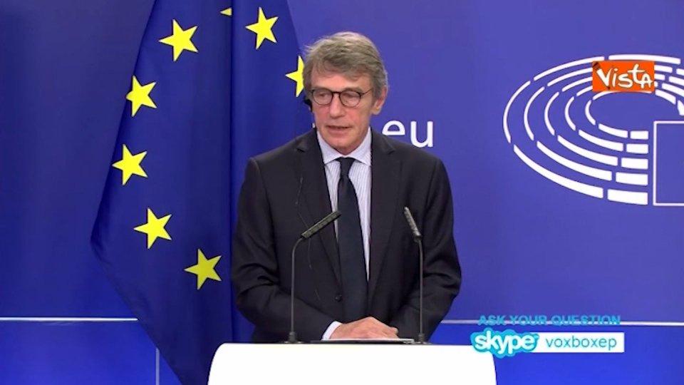 """L'Ue discute sul Recovery fund. Sassoli: """"no a passi indietro"""""""