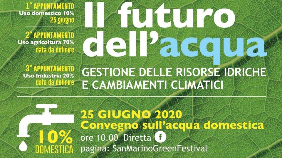 Acqua e cambiamenti climatici. Evento in diretta facebook del San Marino Green Festival