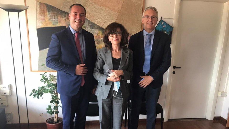 Il segretario Lonfernini incontra la Regione Marche