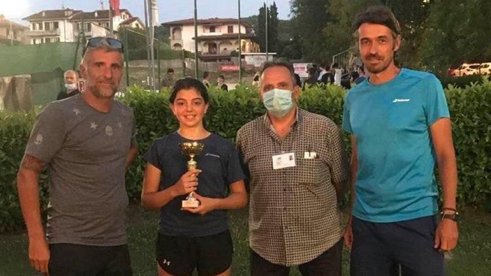 Riparte alla grande la stagione di Sveva Azzurra Pansica:  la 13enne conquista il torneo di 3ª categoria di Fermignano