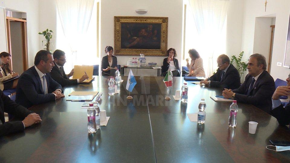 Segreteria Lavoro: Incontro tra il Segretario Lonfernini e il Sottosegretario Italiano agli Esteri Riccardo Merlo