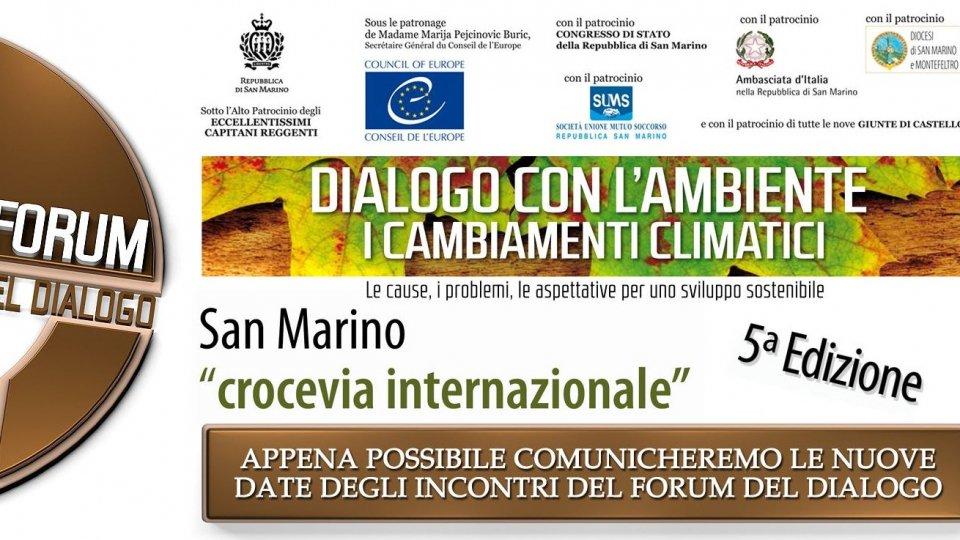 Forum del dialogo. La 5a Edizione fissata nei giorni 23-24 ottobre 2020