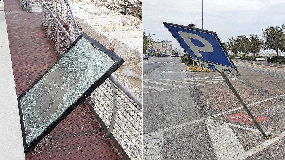 Vento forte in Riviera, raffiche fino a 70 km/h