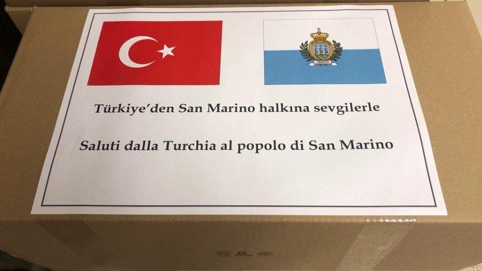 La Turchia dona 3000 mascherine a San Marino