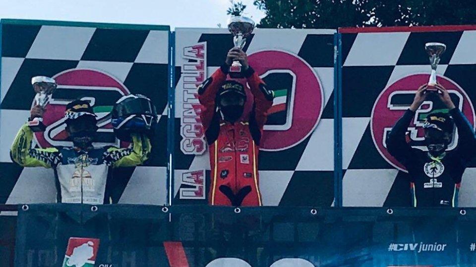 Il sammarinese Gabriel Tesini sul podio a Rieti per CIV Minimoto Junior C