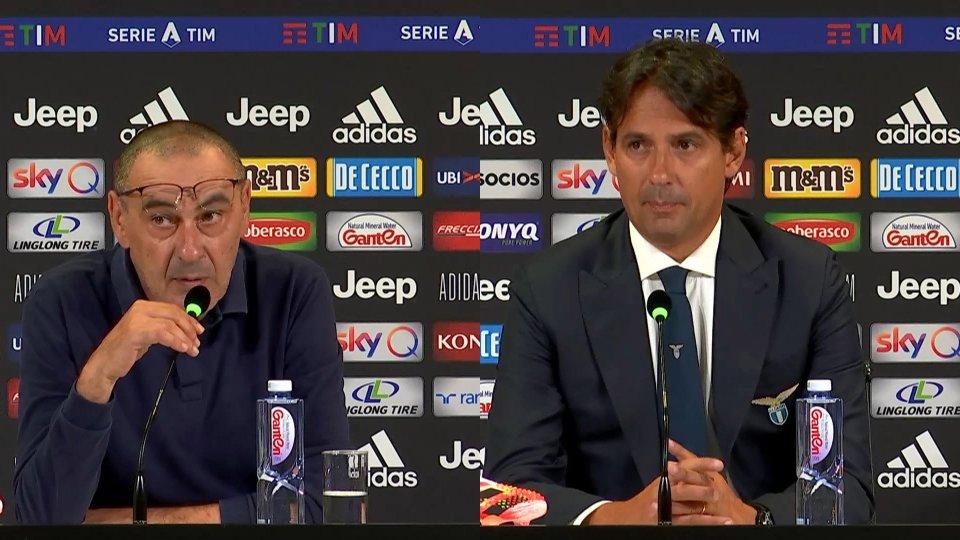 Maurizio Sarri e Simone Inzaghi