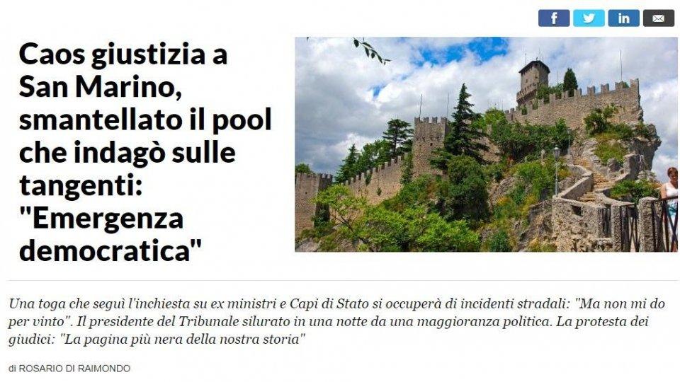"""Brunelli, Buriani e Guzzetta su repubblica.it: """"Vicenda triste che mina la reputazione di San Marino"""""""