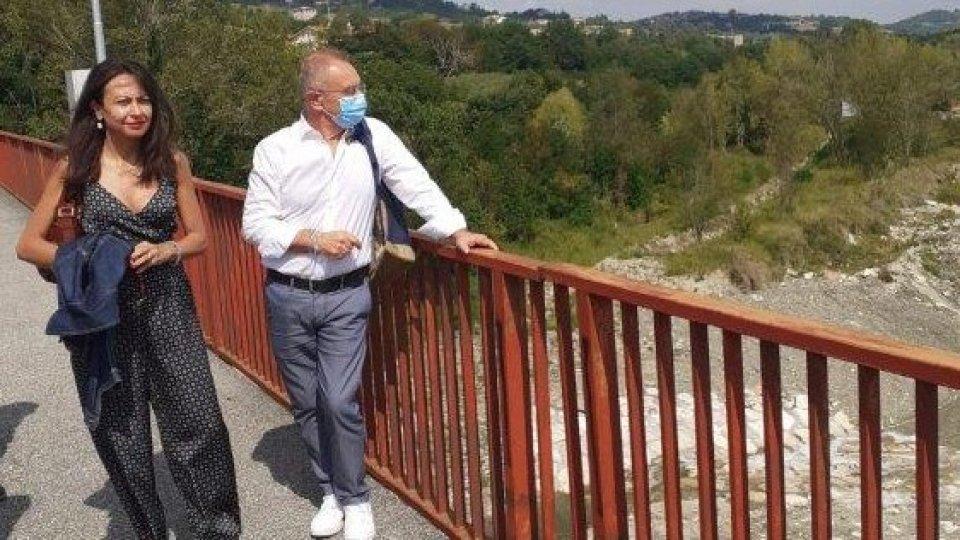Ponte Verucchio: sopralluogo vertici provincia e regione per ripristino totale della viabilità