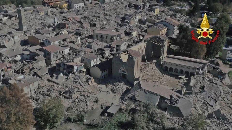 Amatrice, il giorno dopo il sisma del 24 agosto 2016
