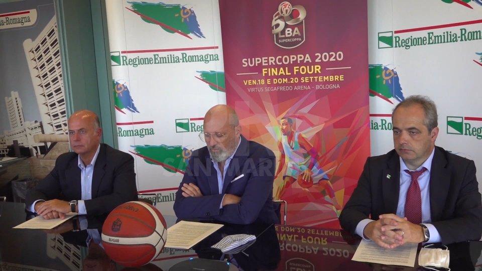 Nel servizio l'intervista a Umberto Gandini, presidente Lega Basket Serie A e Stefano Bonaccini, presidente Regione Emilia-Romagna