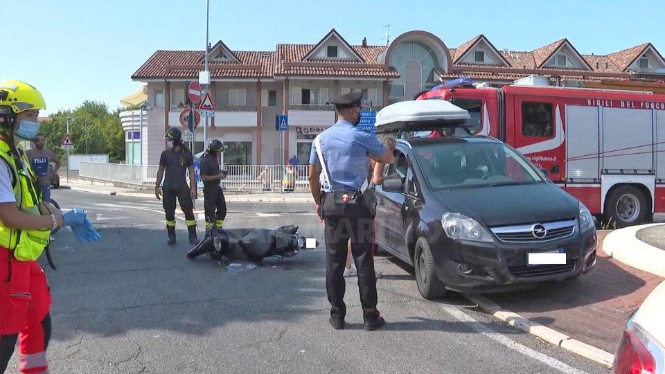 Le immagini dell'incidente alla rotatoria Ducati
