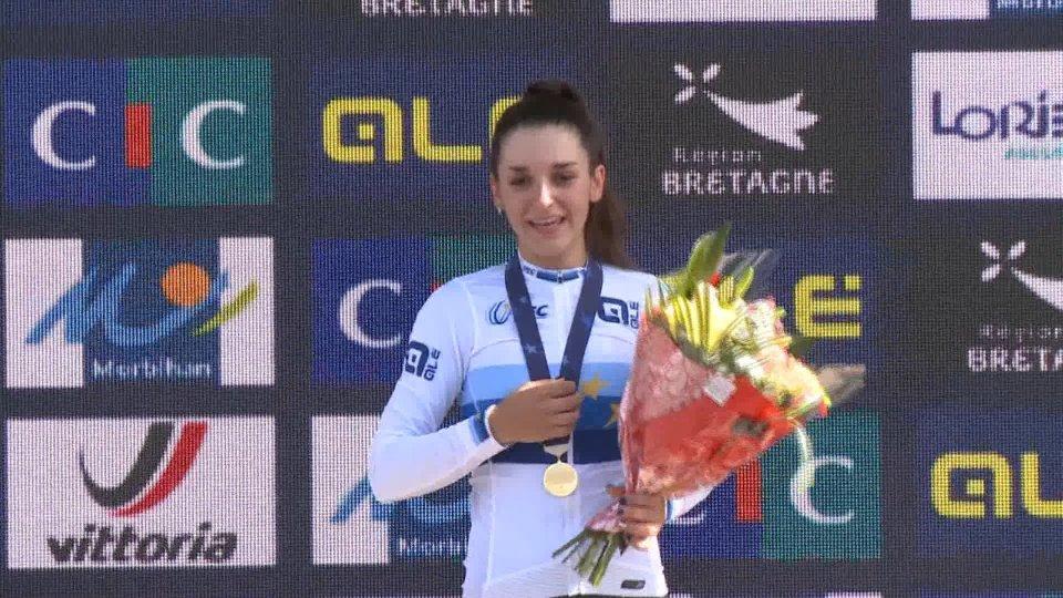 Europei 2020: straordinaria Eleonora Gasparrini, oro nella prova in linea juniores