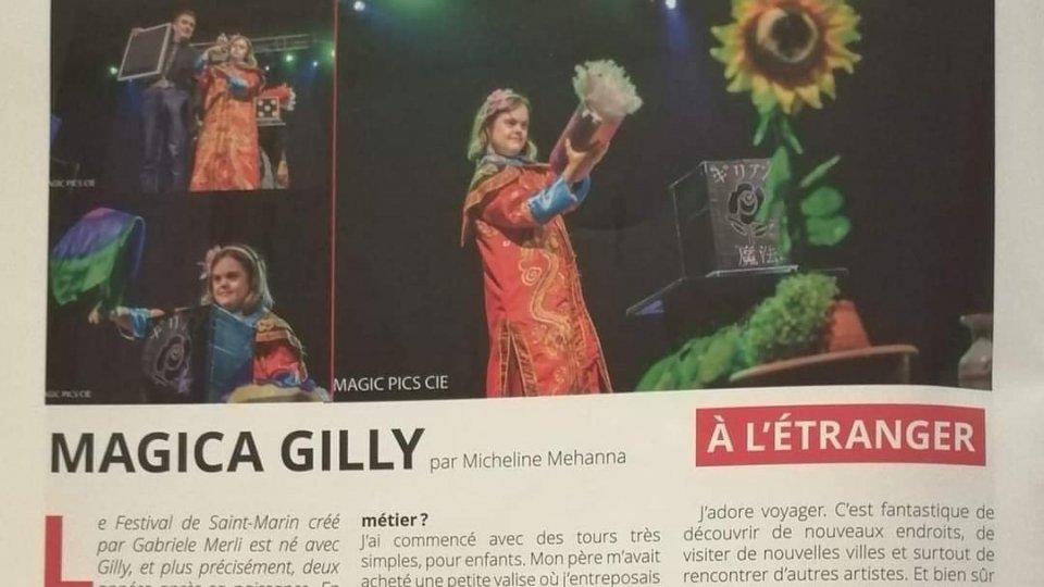 Magica Gilly sulla rivista francese dei maghi